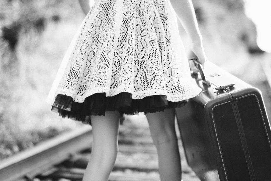 public-domain-images-free-stock-photos-black-white-vintage-suitcase-girl-railroadtracks